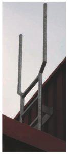 Foto einer Aufstiegsleiter mit Halterohren