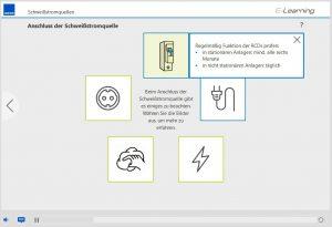 Infografik zum Anschluss der Stromquelle beim Lichtbogenschweißen